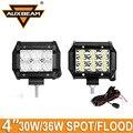 Ausbeam CREE Chips 2 pcs 4 polegadas 30 W/36 W Led de Condução Offroad Luz Spot/Inundação carro Levou Luzes de Trabalho para Caminhão ATV RZR UTV SUV Pickup