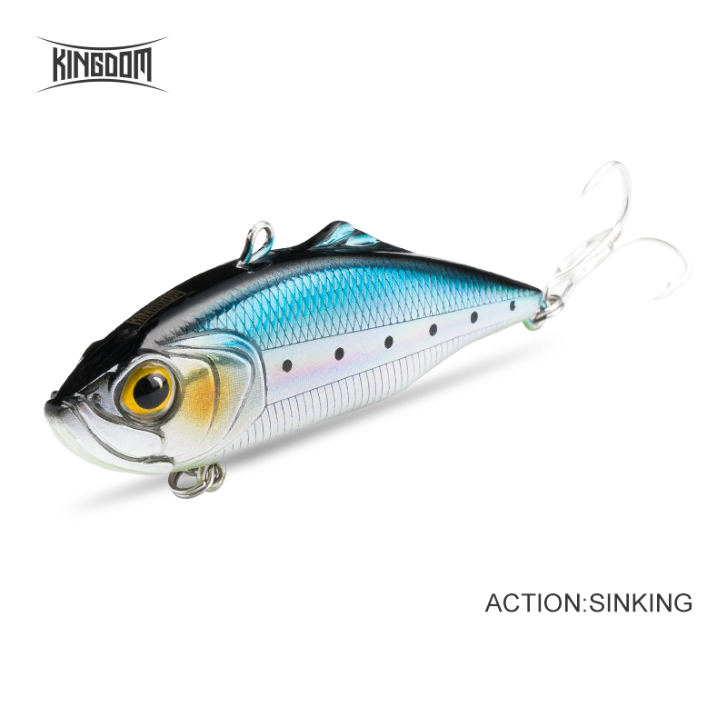 Fishing Kingdom Rattlin Sinking Vibration Fishing Lures 75mm 60mm Hard Baits Artificial VIB Summer or Winter ICE Fishing Lure Bass Pike