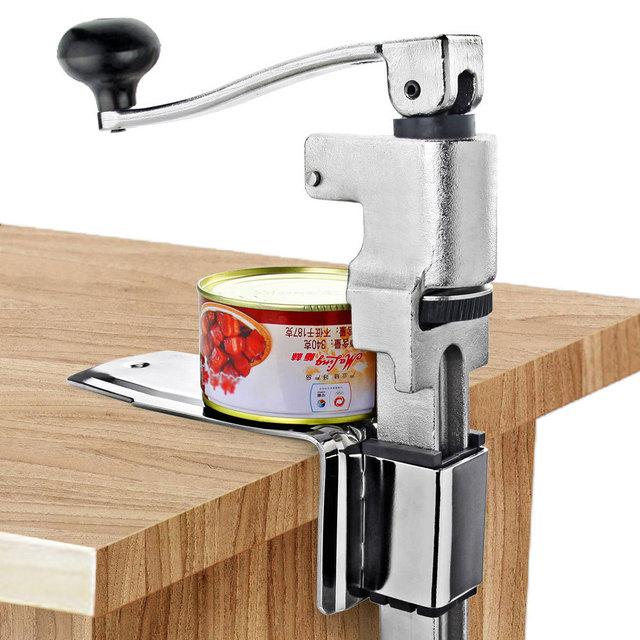 Restaurant Desk Style Can Opener Industrial Table Mount Manual Commercial Bottle Tin Opener Jar Opener Cooking Tool