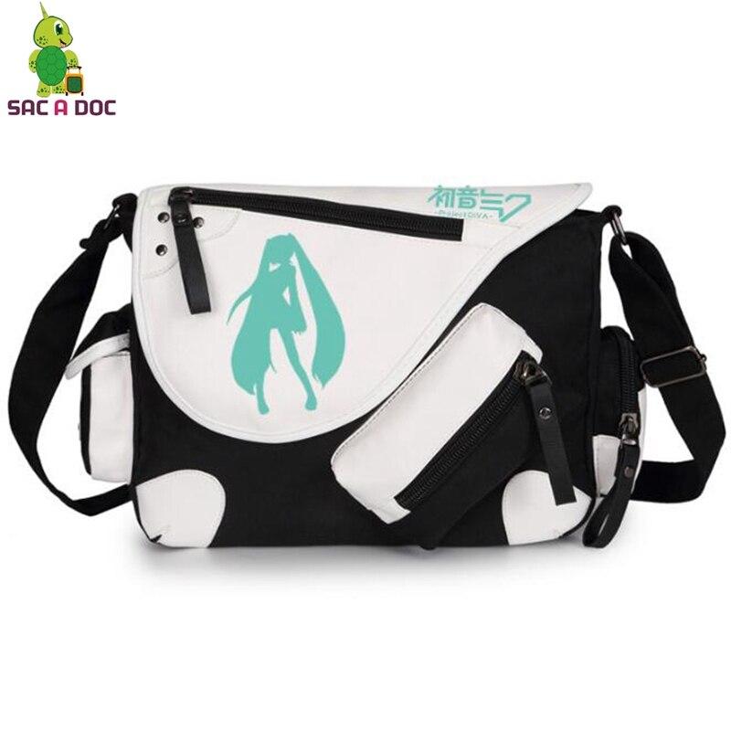 Anime VOCALOID Hatsune Miku Cosplay Messenger Bags Crossbody Bag Boys Girls School Shoulder Bags Travel Bags