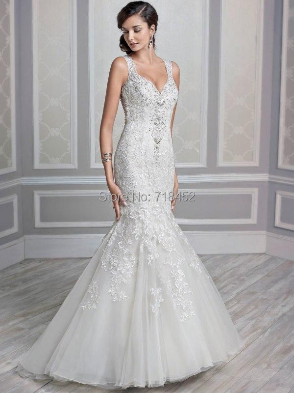 Irish Wedding Dresses sirena cariño Flores párr encaje Noivas blusa ...