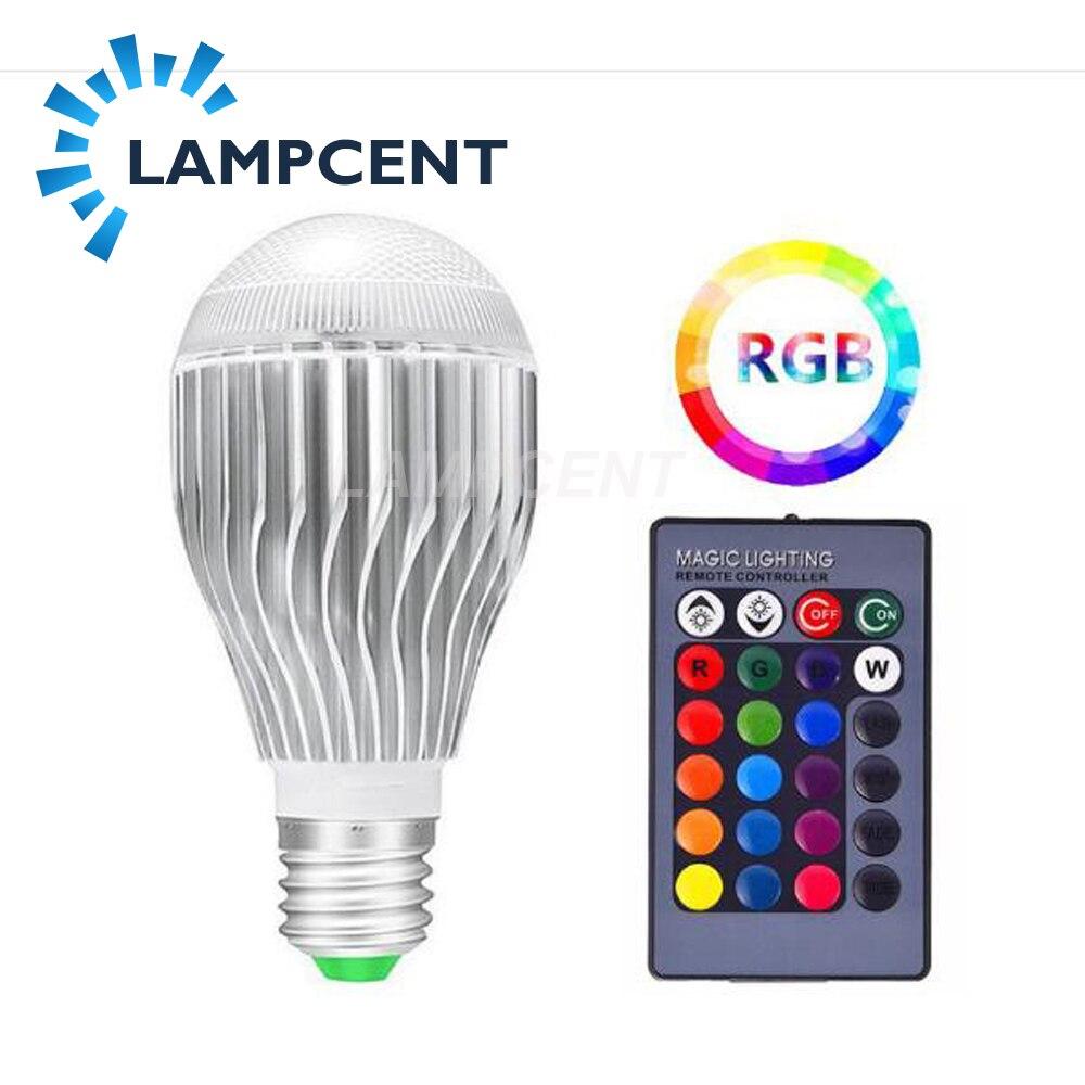 E27 LED 10/15 W 16 couleur changeante ampoule magique 220 V 110 V RGB + blanc à distance lampe intelligente lumière mémoire Dimmable + télécommande IR