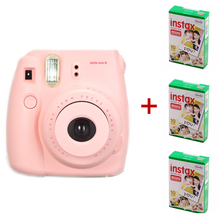 2016Newest Fuji Instax Mini 8 Camera Mix Color Instant Fujifilm Photo Camera + 3 Packs (30 sheets) Plain Edge Instant Photo Film