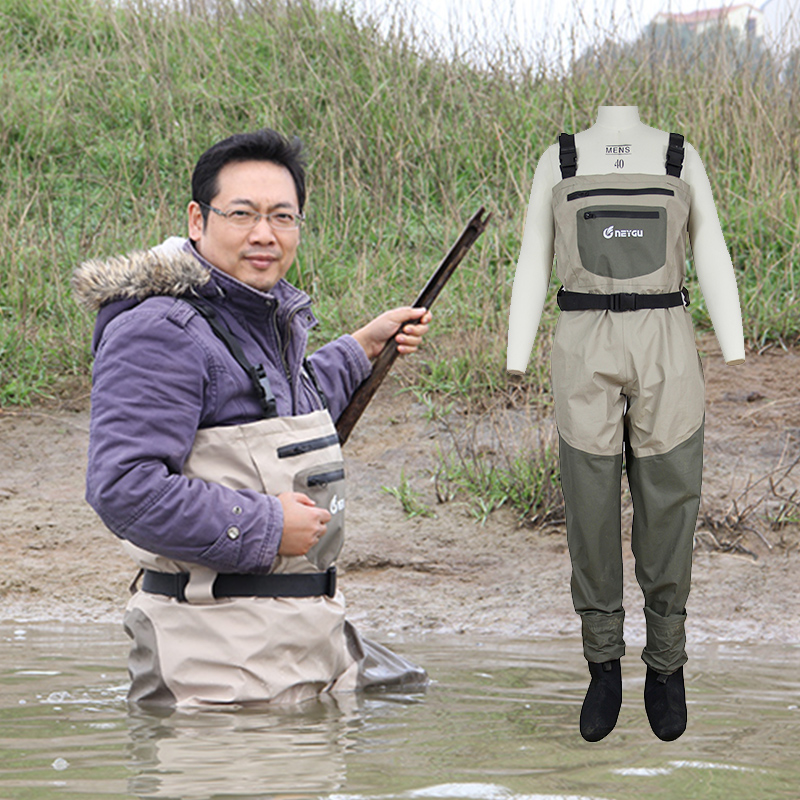 Waterproof and breathable fly fishing chest wader for Chest waders for fishing