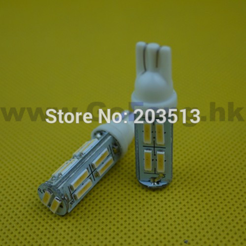 50pcs/lot wholesale cheap t10 14 smd 7014 14 LED car lighting W5W 194 7020 SMD high quality White bulb FREE SHIPPING