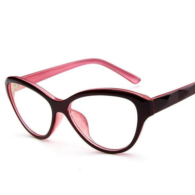 459da04933bdc Cat Eye Style Clear Lens Eyeglasses Frame Women Eyewear Fashion Vintage  Spectacle Optical Eye Glasses Frames For Women 005
