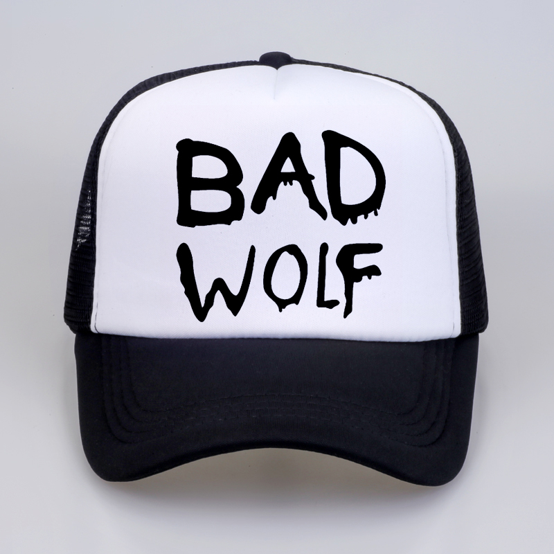 Bad wolf  mesh trucker cap For men Women cool Casual Baseball Caps hip hop sports hat