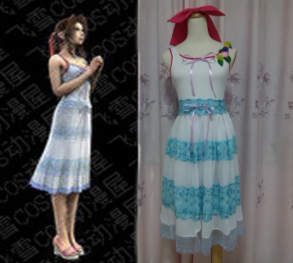 anime cosplay Final Fantasy VII 7 Aerith Gainsborough Cosplay costumes mofem 114 prim cer