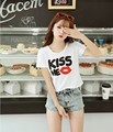 11 Patterns Summer Women Cotton Crop Tops Girl Short Sleeve T Shirts Large Elastic Short Tees