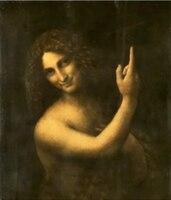 Wholesale oil painting Leonardo da Vinci oil painting replica St John the Baptist + ART work Free shipping cost