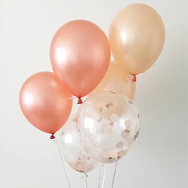 Rose Gold Balloon 30pcs/lot12 Inch 3.2g Latex Pearl Baloon Wedding Decorations Balloons Birthday Party Supplies Baby shower