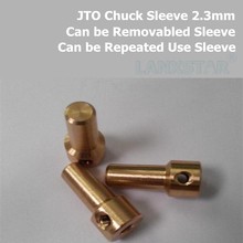 JT0-2.3 Mini Drill Connecting Parts Connector Sleeve JTO Drill Chuck Clamp Rod Fit Motor Shaft 2.3MM Removable Copper Sleeves