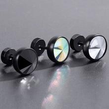 IMIXLOT 2pcs/Pair 18G Titanium Steel Inlaid Zircon Ear Plugs Exquisite Metal Piercing Body Jewelry For Women Men