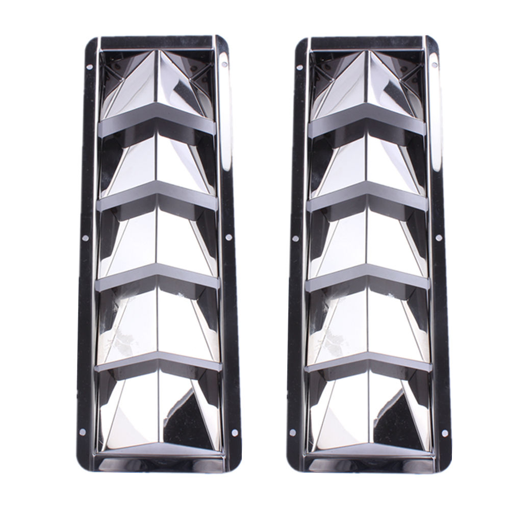 2PCS Boat Stainless Steel Louver Vent Boat Marine 5 Slots Vent 12-7/8
