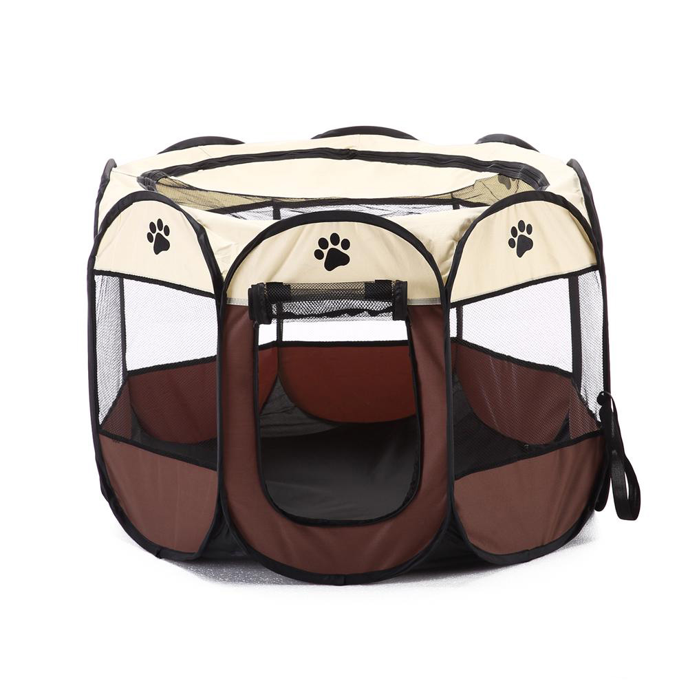 Portable Folding Pet Tent Dog House Cat Cage Puppy Playpen Kennel Soft Pen Panel