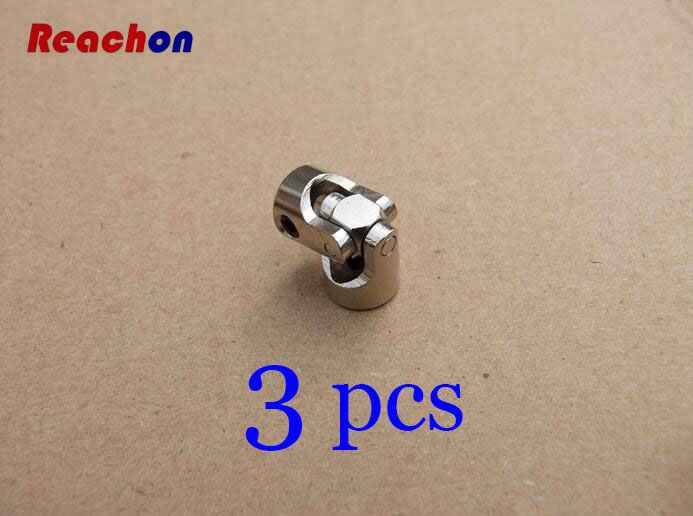 3pcs Metal Universal joints Coupling Shaft Connector for RC Car/Boat model 2mm 2.3mm 3mm 3.175mm 4mm 5mm 6mm 8mm 10mm