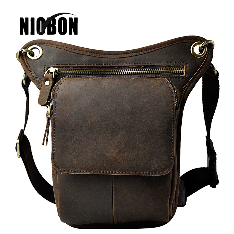 Niobon 100% Top Genuine Leather Waist Packs Fashion Man Travel Belt Bag for Phone Men's Small Mini Handbags Pouch Bags hot sale men canvas waist packs army green solid phone bag hip belt portable man wallet purse case pouch waist bags 2017