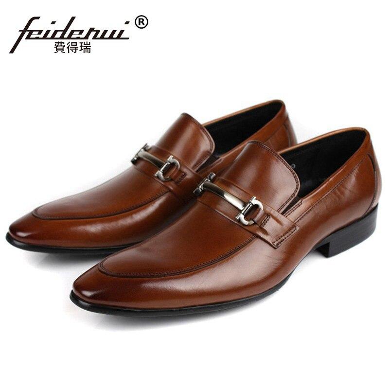 Luxury Designer Formal Dress Shoes Formal Brand Genuine Leather Loafers Men's Pointed Toe Slip on Handmade Flats For Male CA70 цены онлайн
