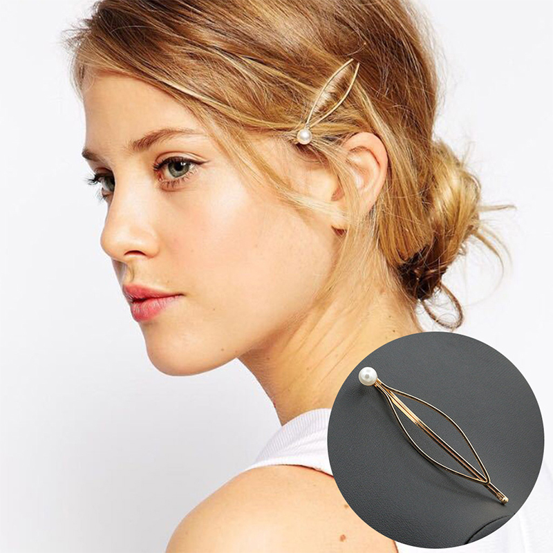 New Arrival Shaped Pearl Hairpins Barrette Hair Accessories for Women   Headwear   Hairgrips Beauty Female Hair Clip