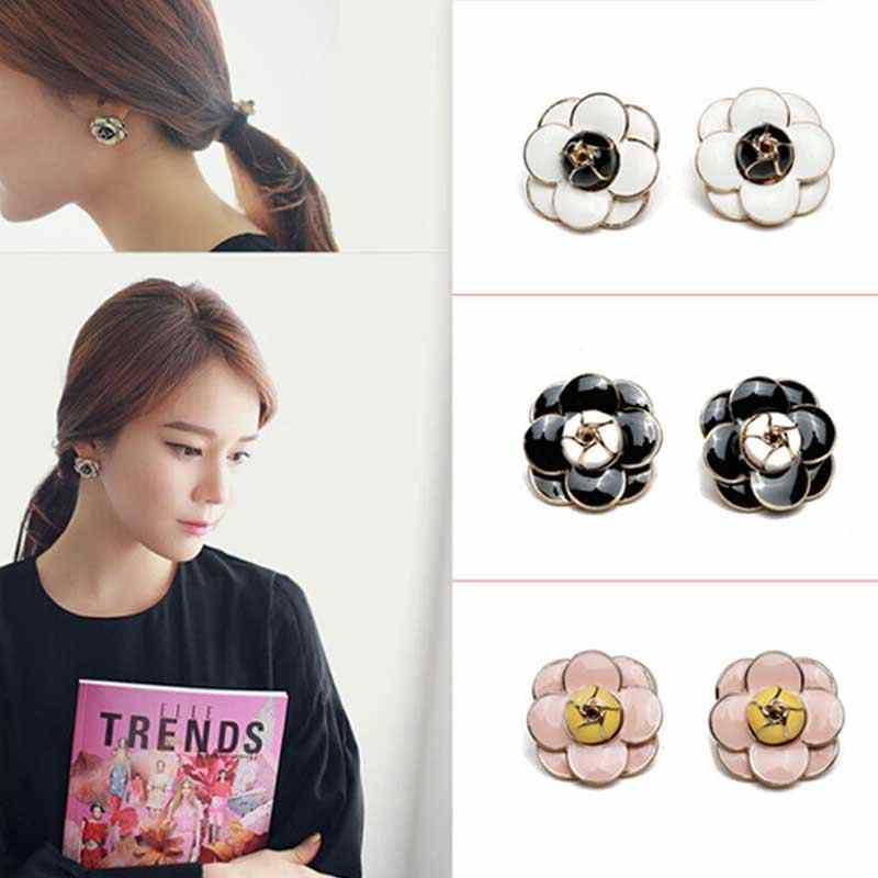 Kualitas Tinggi Camellia Anting-Anting Kecil Aroma Fashion Bunga Pesta Wanita Anting-Anting