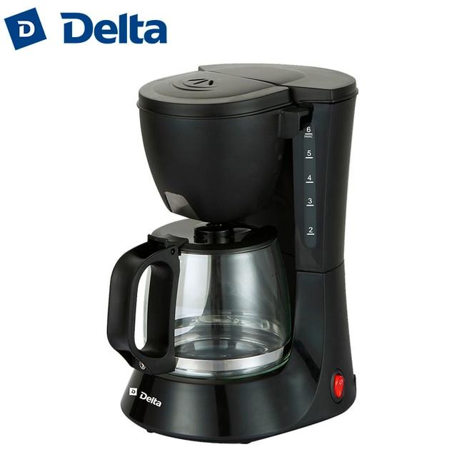Кофеварка капельного типа DL-8153, объем 600мл, съемный моющийся фильтр, съемный моющийся держатель для фильтра, световой индикатор работы на кнопке, шкала уровня воды, система поддержания температуры,функция антикапля