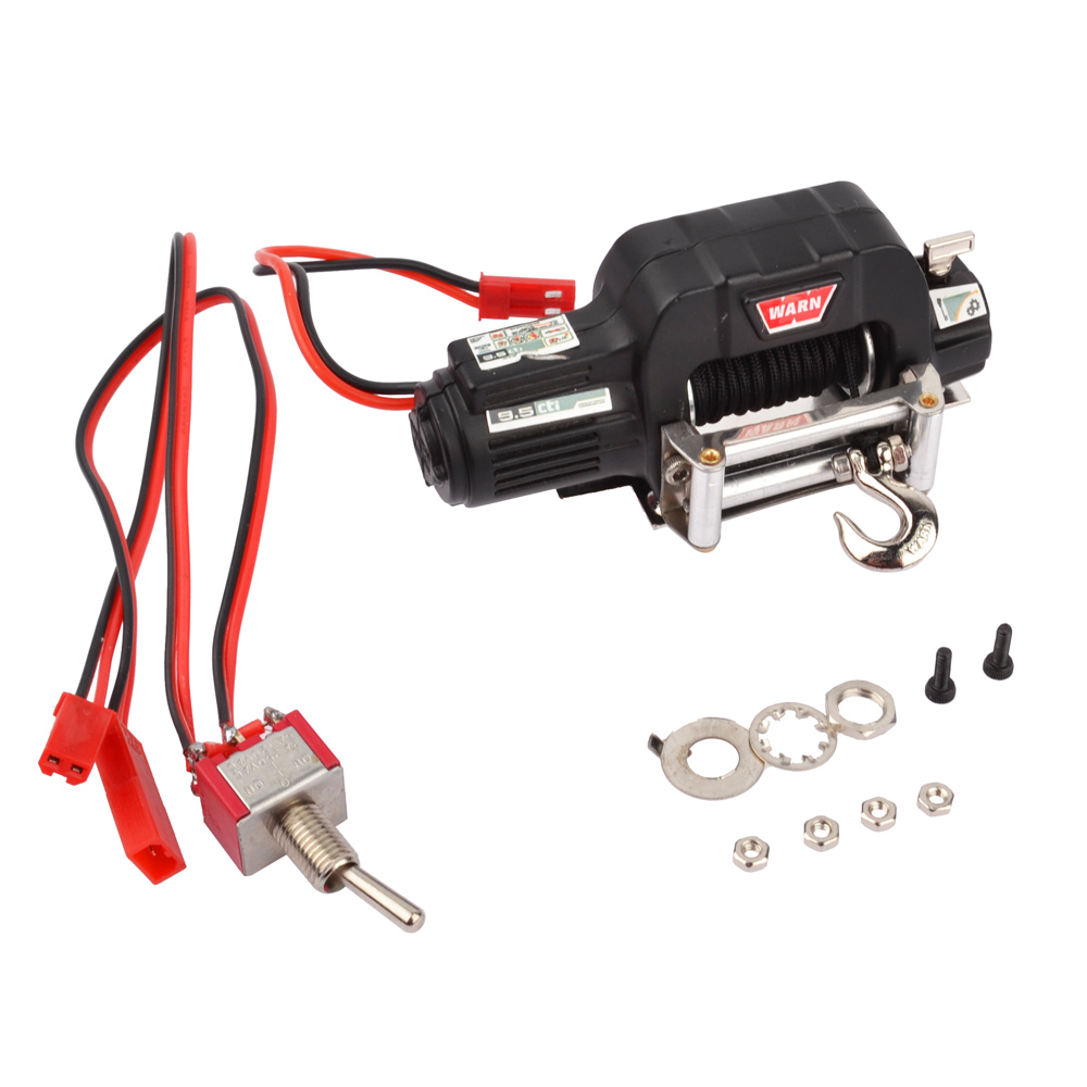 RC 1/10 Crawler  Metal Electric Winch  for 1/10 RC Rock Crawler Traxxas TRX-4 Axial SCX10 RC4WD D90 D110 Tamiya CC01 2016 best electric toy 4wd05 rc electric rock crawler king1 12 scale rc off road vehicle rechargeable battery