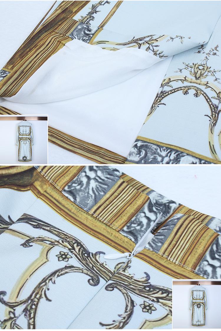 Designer Runway Suit Set Women's Sets Long Sleeve Shirt Tops + Print Skirt suit 2 Two piece set 11