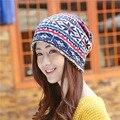 Invierno chapeau caliente skullies unisex otoño gorros mujeres femme hembra sombrero hecho punto casquillo de las señoras capó