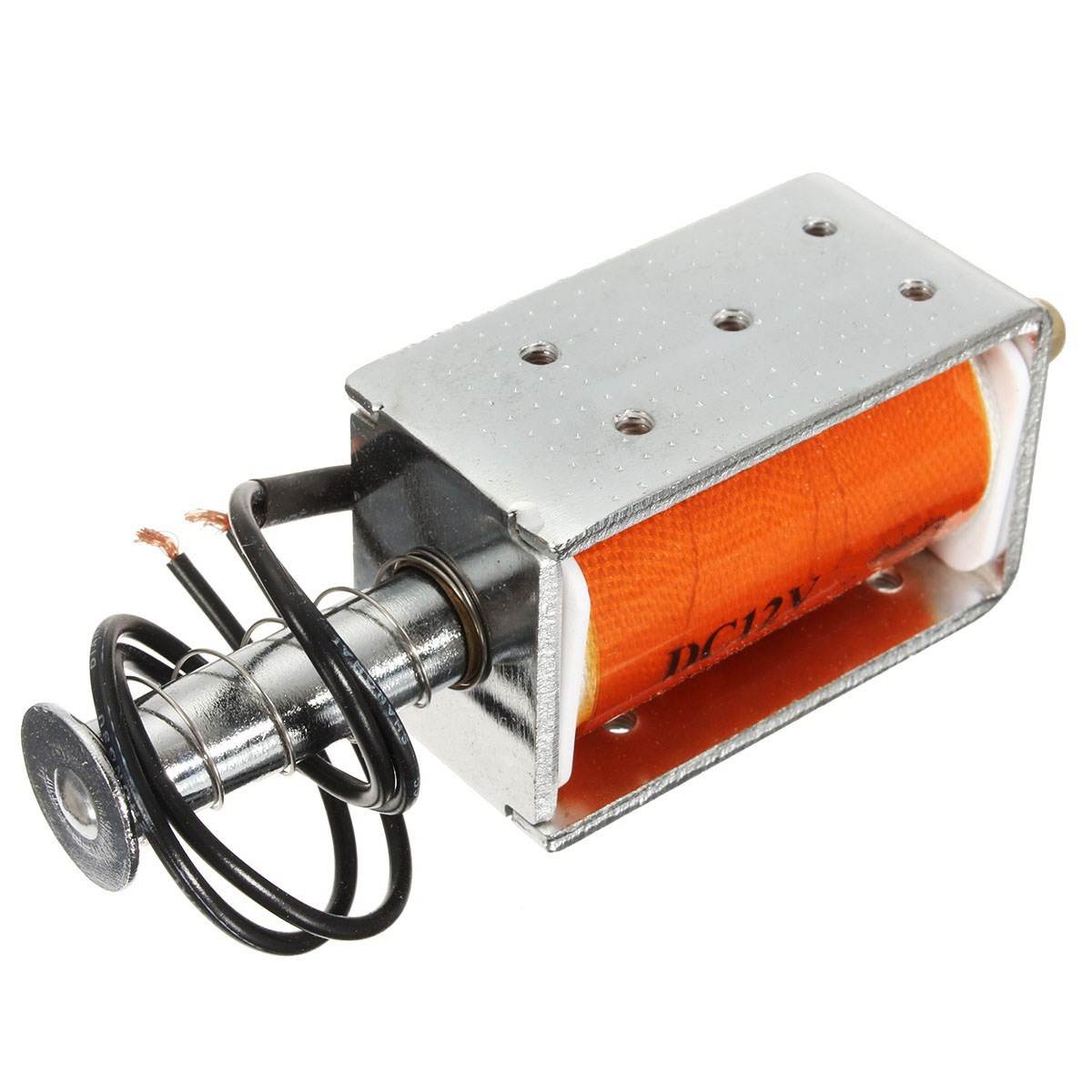 New Electric 35mm long-stroke push-pull solenoid DC12v small electromagnetic Electric Magnet Durable in use