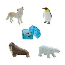 Assorted 4pcs/set of ukenn 3D polar life animal puzzles DIY models kids educational toy 2666