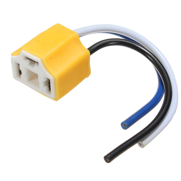 2 PCS High Quality H4 9003 Car Truck Ceramic Headlight Extension Connector Plug Light Lamp Bulb Wire Socket Adapter 12V 5pin relay socket connector 12v 30amp 40amp 6 3mm car truck vehicle terminal case