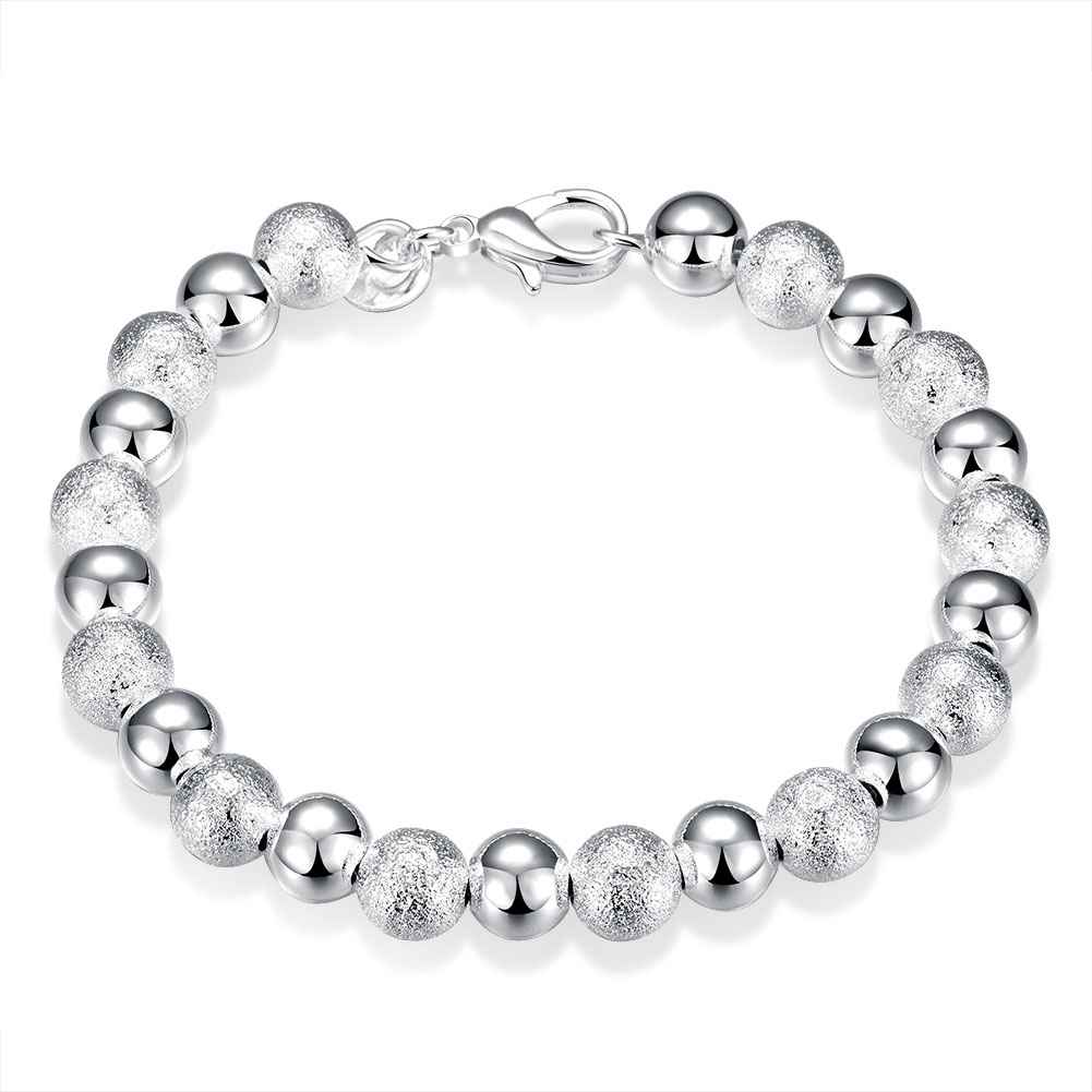 Free shipping silver plated jewelry bracelet fine fashion beads bracelet top quality wholesale and retail SMTH084