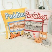 New Big Bag Kawaii Pudding Hamster Plush Balls Snack Toy Soft Cartoon Animal Stuffed Doll Sofa Pillow Girlfriend Kids Gifts