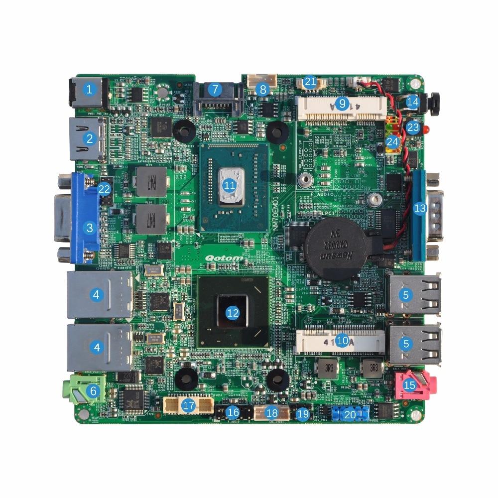 Newest x86 industrial mini itx motherboard with 2 Gigabit LAN 1037U Celeron Q1037UG2-P DHL Free shipping dhl ems adlink industrial motherboard nupro 852lv a2