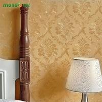 Luxury Vintage Damask Vinyl Wallpaper Embossed Self Adhesive Wall Paper For Bedroom Living Room TV Background