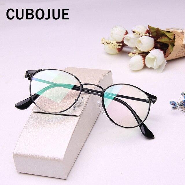 21f1ad35db Cubojue Vintage gafas mujeres hombres pequeña cara marcos de anteojos con óptica  claro lente Retro gafas