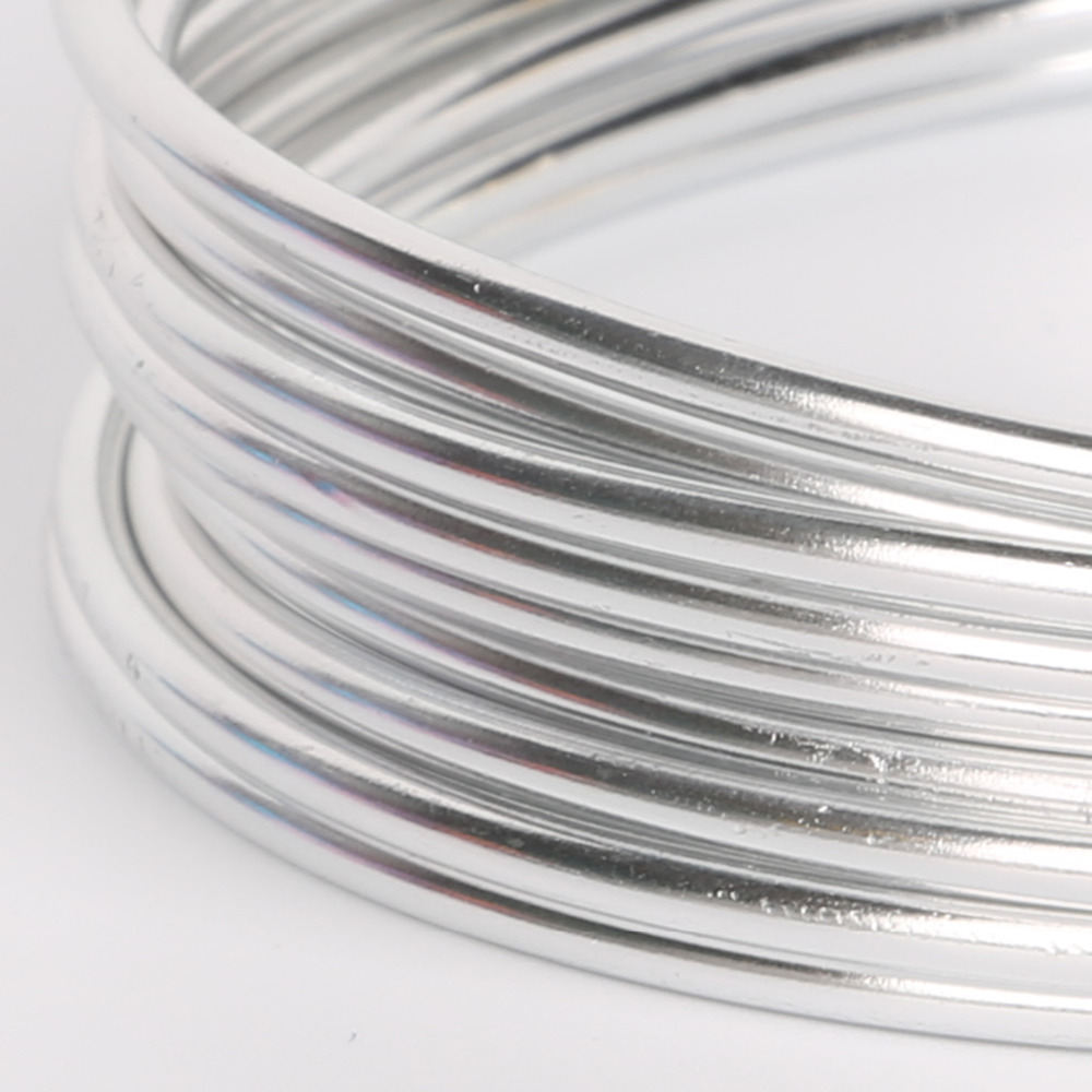 Silver Plated Aluminum Wire Craft Jewelry Making 1mm 1.5mm 2mm 2.5mm ...