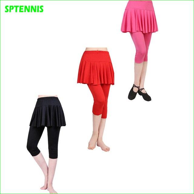Faux Deux pièces Legging Femme Sport Pantskirt De Compression Leggings Avec Jupe  Courte Pour Dacne de 72aacb7e3cf