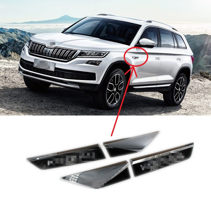 suitable for skoda kodiaq 2017 2018 side wing door emblem badge sticker car styling accessories. Black Bedroom Furniture Sets. Home Design Ideas