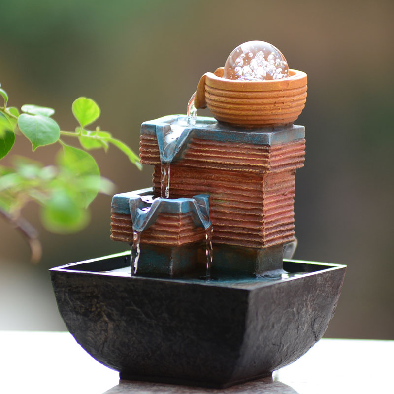 Small fountain water features feng shui wheel desktop for Water feature feng shui