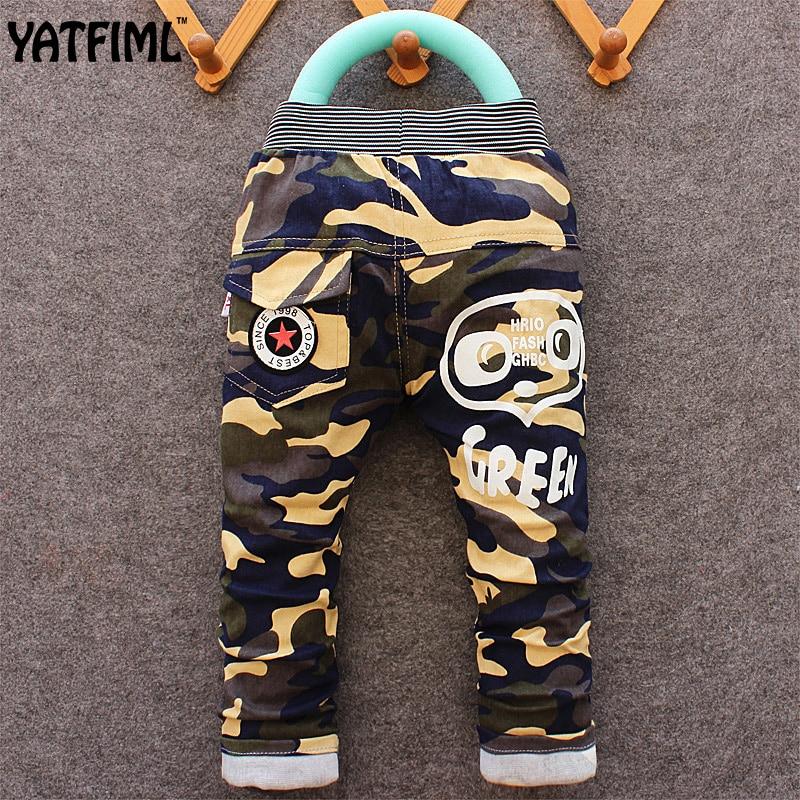 YATFIML baby cotton camouflage Kids boy sport trousers