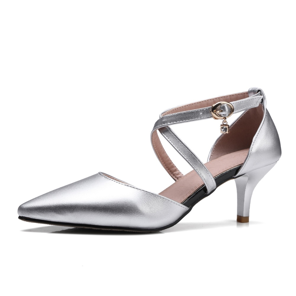 Sandals honeymoon shoes with rhinestone - High Heel Pumps Pointed Toe Rhinestones Satin Bride Bridesmaid Woman Bridal Wedding Evening Prom Shoes Silver