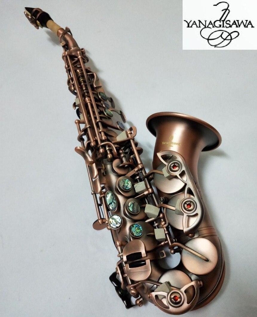 New curved Soprano Saxophone Yanagisawa S-991 instrument  Bb music Soprano High-quality Red copper Saxophone ProfessionalNew curved Soprano Saxophone Yanagisawa S-991 instrument  Bb music Soprano High-quality Red copper Saxophone Professional