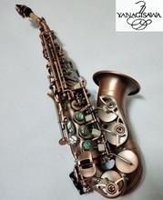 Новый изогнутый саксофон сопрано Янагисава S-991 инструмент Bb музыка сопрано высокого качества красный медный саксофон Professional