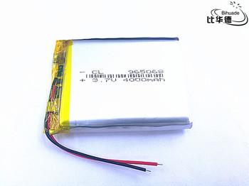 Free shipping 10pcs/lot 965068 Accumulator 3.7V 4000mAh Rechargeable Lithium Polymer For E-book