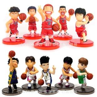 10pcs/lot Slam Dunk PVC Action Figures Toy Shohoku...