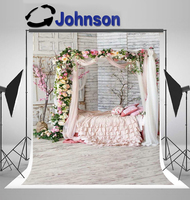 colorful flower tull bed boudoir romantic floral photography backgrounds Vinyl cloth Computer print wall photo backdrop