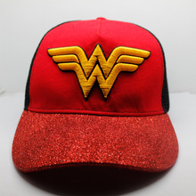 c984d3a7de1 Wonder Woman Logo Adult Unisxe Cap Printed Dome Hat Halloween Cosplay  Costumes Superhero Cosplay Hats PU