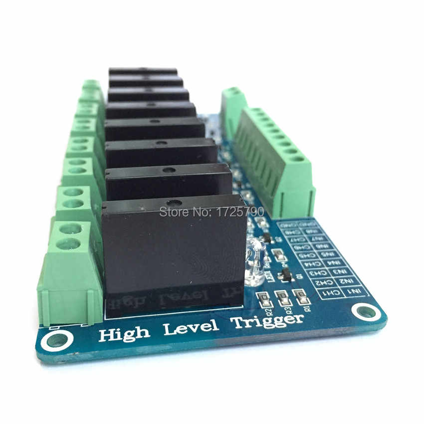 High Quality SainSmart 8 Channel 5V Solid State Relay Board Module OMRON  SSR AVR DSP For Arduino Free Shipping