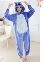 Autumn Spring Winter Blue Pink Stitch Onesie Flannel Pajama Sets Unisex Cosplay Costume Animal Pajamas Onesies